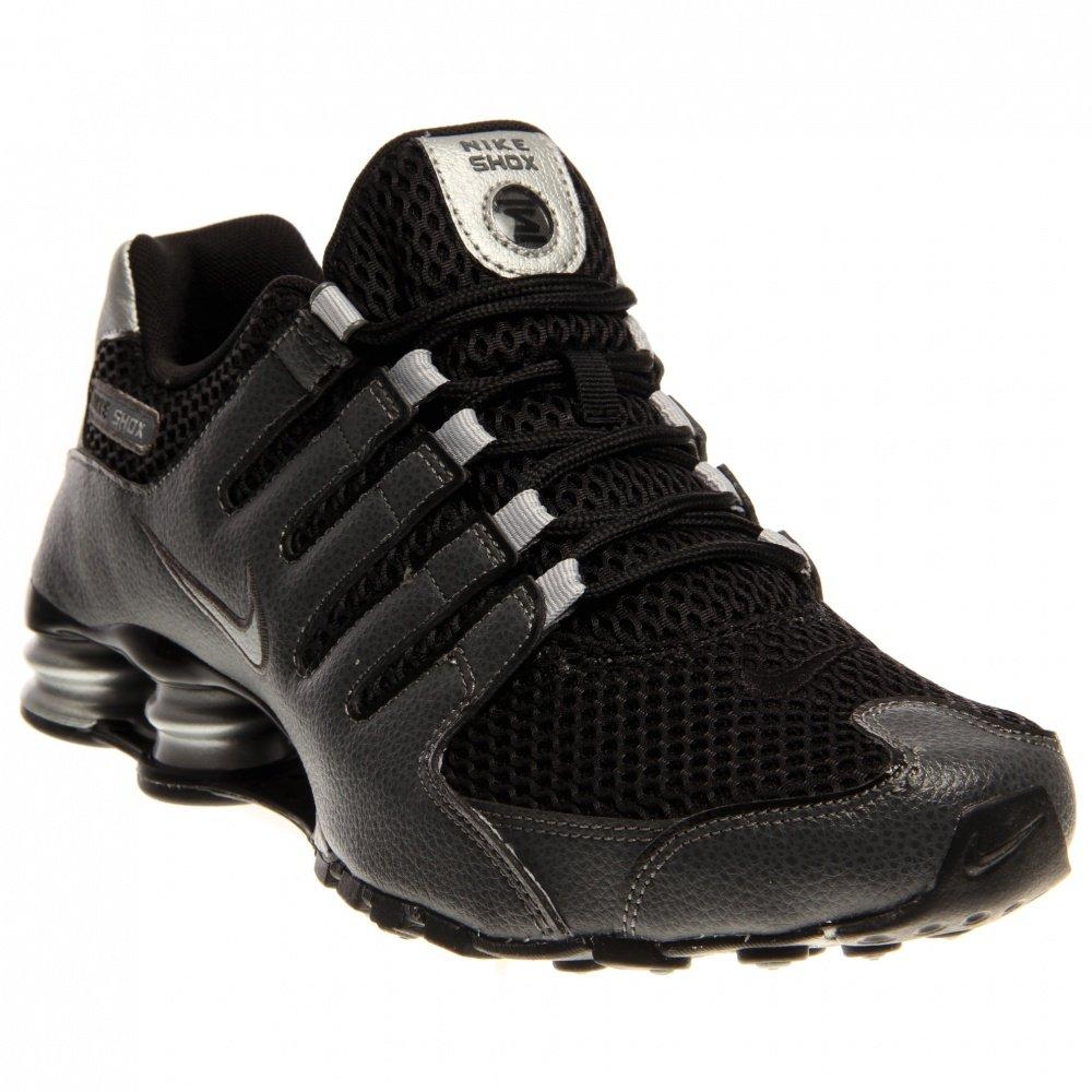 pretty nice 6fe14 c9c49 Galleon - NIKE Men s Shox NZ Black Black Mtllc Slvr Drk Gry Running Shoe 8  Men US