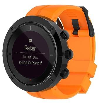 Para Suunto Spartan Ultra reloj, cooljun moda lujo caucho reloj correa de banda de sustitución, naranja: Amazon.es: Deportes y aire libre