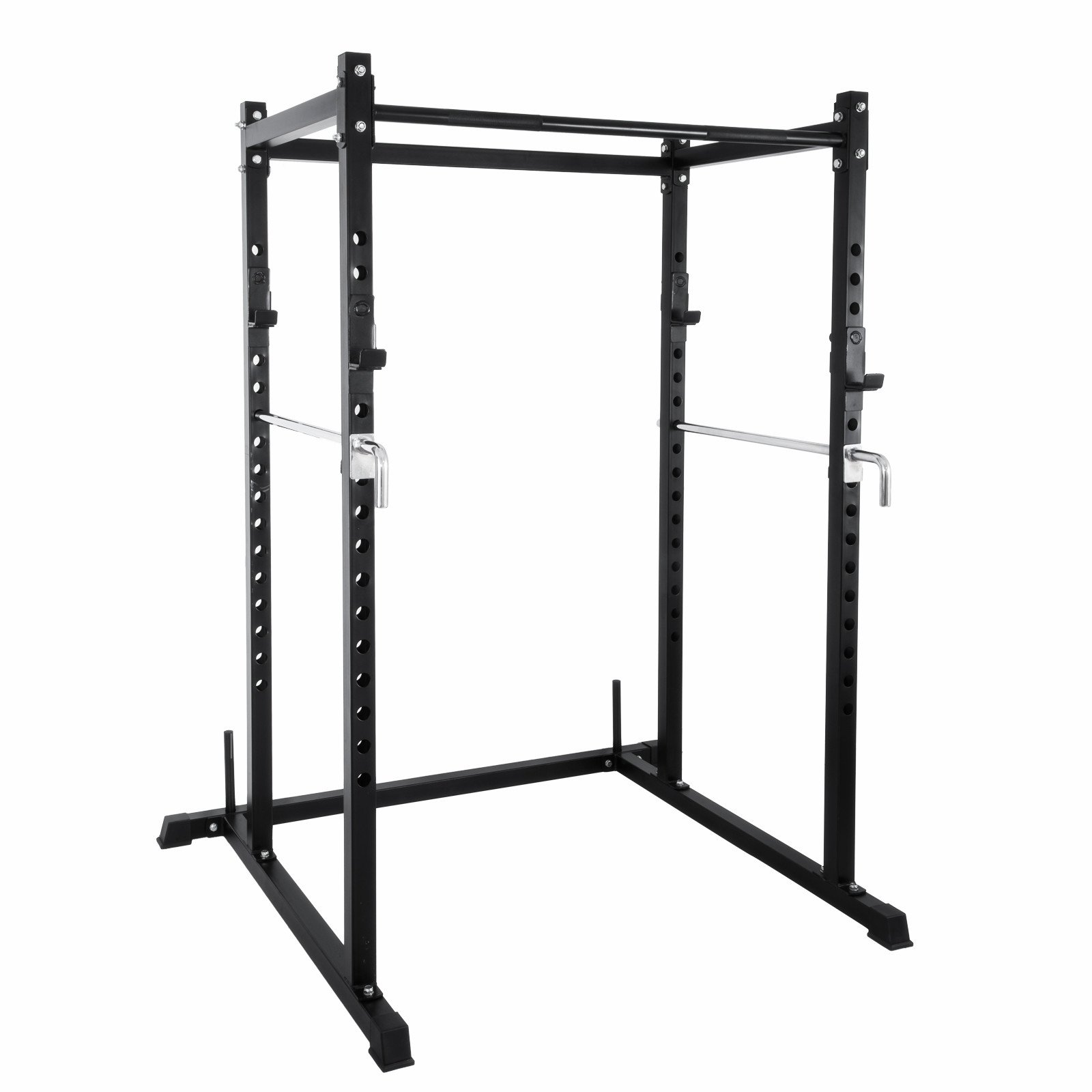Popsport Deep Squat Rack Series Power Rack Squat Barbell Cage Bench Stand Heavy Duty Multi-Grip Chin-Up Fitness Power Rock for Home Gym (T-2 Series)