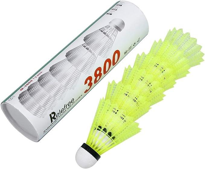 6 x Nylon Badminton Shuttlecock Birdie Ball Cork Base Fun Excellent Quality