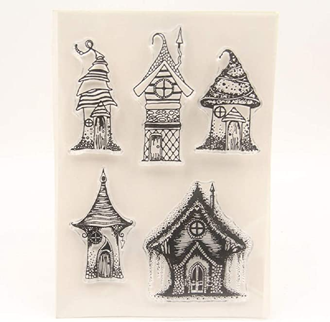 Amazon.com: Old Vintage House Transparent Clear Silicone Stamp Seal for DIY Scrapbooking Photo Album Decorative Card Making Unique Gift for Fiends Lovers: Arts, Crafts & Sewing