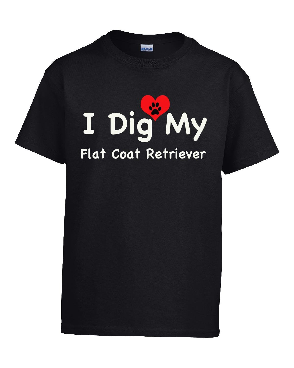 I Dig My Flat Coat Retriever - Girl Kids T-shirt Kids Xl Black