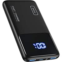 INIU Portable Charger, 20W PD 3.0 QC4.0 Fast Charge 10500mAh USB C LED Display Power Bank, Quick Charging Battery Pack…