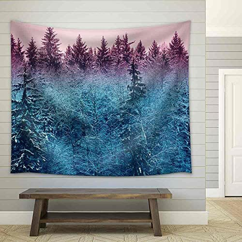 Fir Forest in Early Morning Fabric Wall
