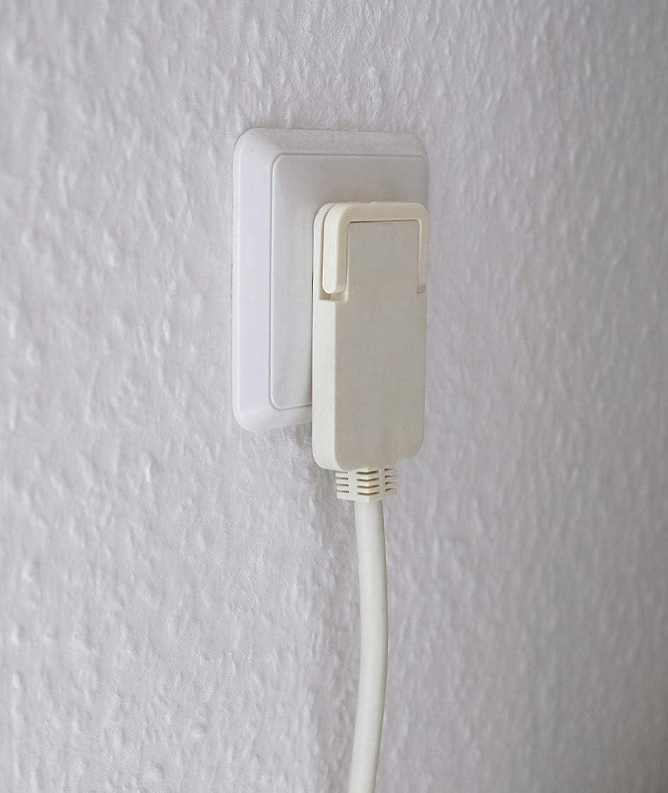 /blanco alargador el/éctrico, cable de 3 m, doble extensi/ón, 2 conectores Cable alargador de corriente 3 metros con dos enchufes Brennenstuhl