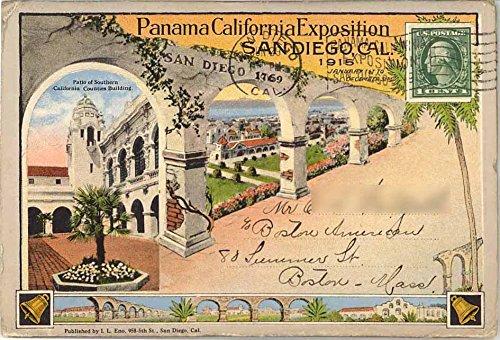 Panama - California Exposition - San Diego California - 1915 Curt Teich Souvenir Postcard Folder