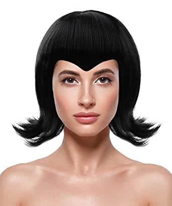 Amazon.com  Halloween Party Online Mavis Wig Resort Transylvania Black  Costume Cosplay HW-162  Clothing 1c35d0942