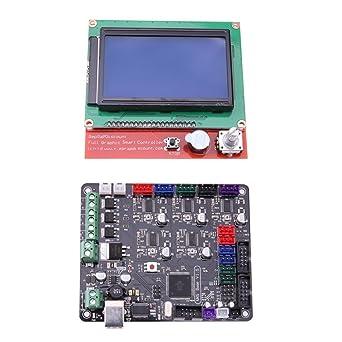 Starriver Impresora 3D placa base MKS BASE V1.5 con 12864 Kit de ...