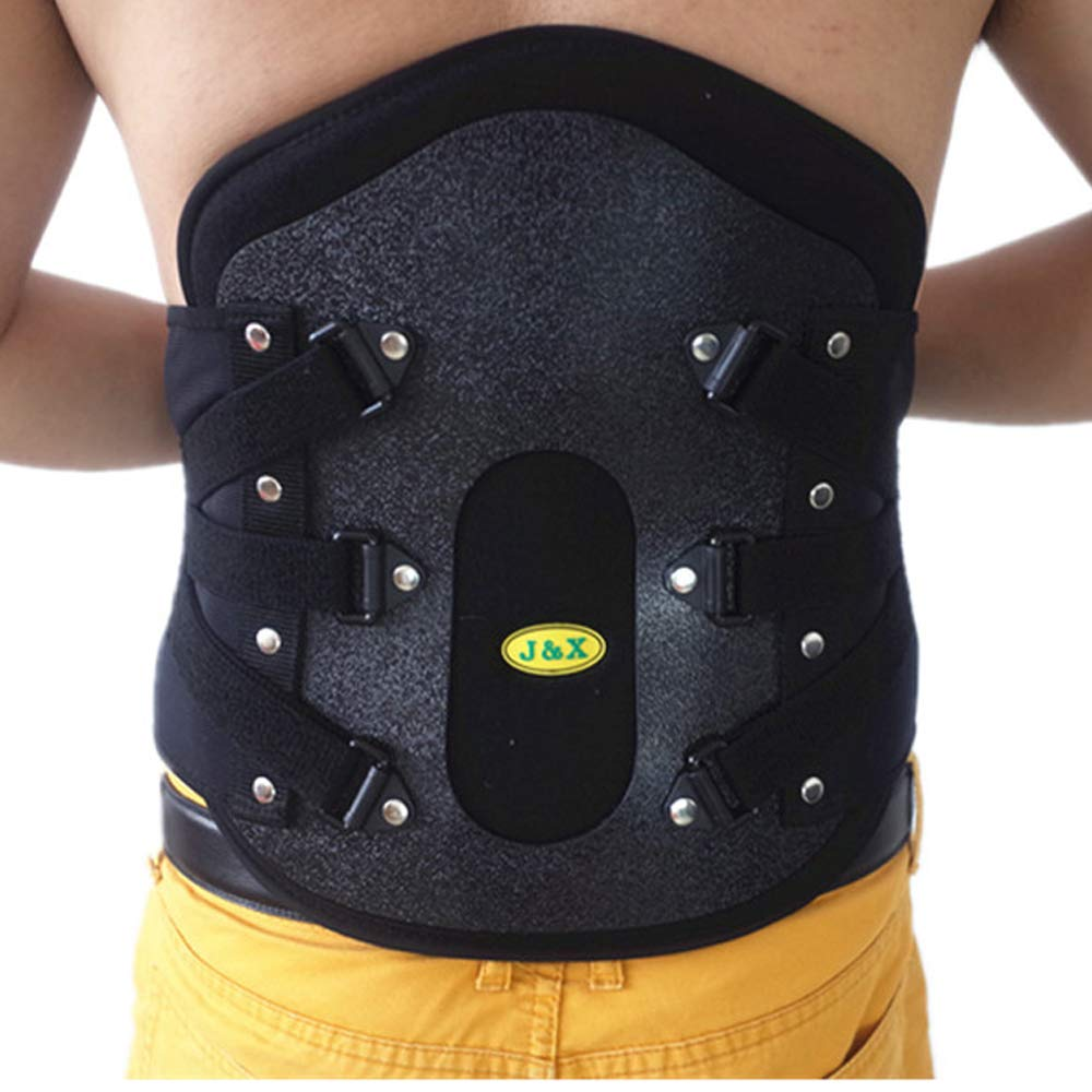 UUK Support for Back, Lumbar Brace, Medical Grade Waist Belt for Pain Relief and Injury Prevention | Double Adjustment, L