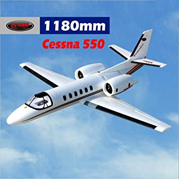 DYNAM RC Airplane Cessna 550 Turbo Jet White Twin 64mm EDF - PNP