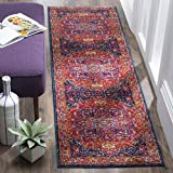 Cheap Safavieh Evoke Collection EVK275S Oriental Medallion Fuchsia and Orange Runner (2'2″ x 19′)