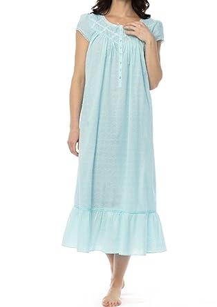 Eileen West Women s Swiss Circle Dot Cotton Lawn Ballet Nightgown ... 2d24a98ec