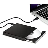 Rts Ultra Slim Portable External DVD Writer Drive with RW USB 2.0 for Laptop, Desktop and PC (Black)