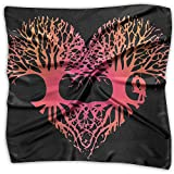 Valentine Tree Heart Love Roots Women's Fashion Print Square Scarf Neckerchief Headdress S