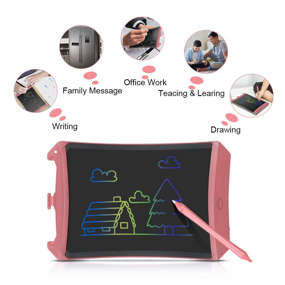 LET'S GO! Birthday Gifts for Girls Boys Age 5-12, LCD Writing Tablet Kids Digital Writing Tablet Board Doodle Board for Kids Electronic Adults Boys Girls Pink DMXB1 by LET'S GO! (Image #3)