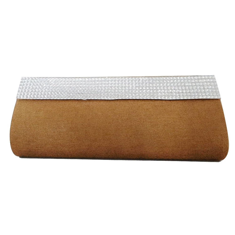 Rhinestone Brown Clutch Beaded Raw Silk Medium Handbag Evening Wedding Clutch