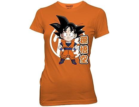 b7c0c9a36b0 Ripple Junction Dragon Ball Z Goku Chibi with Kanji Adult T-Shirt 2XL Orange