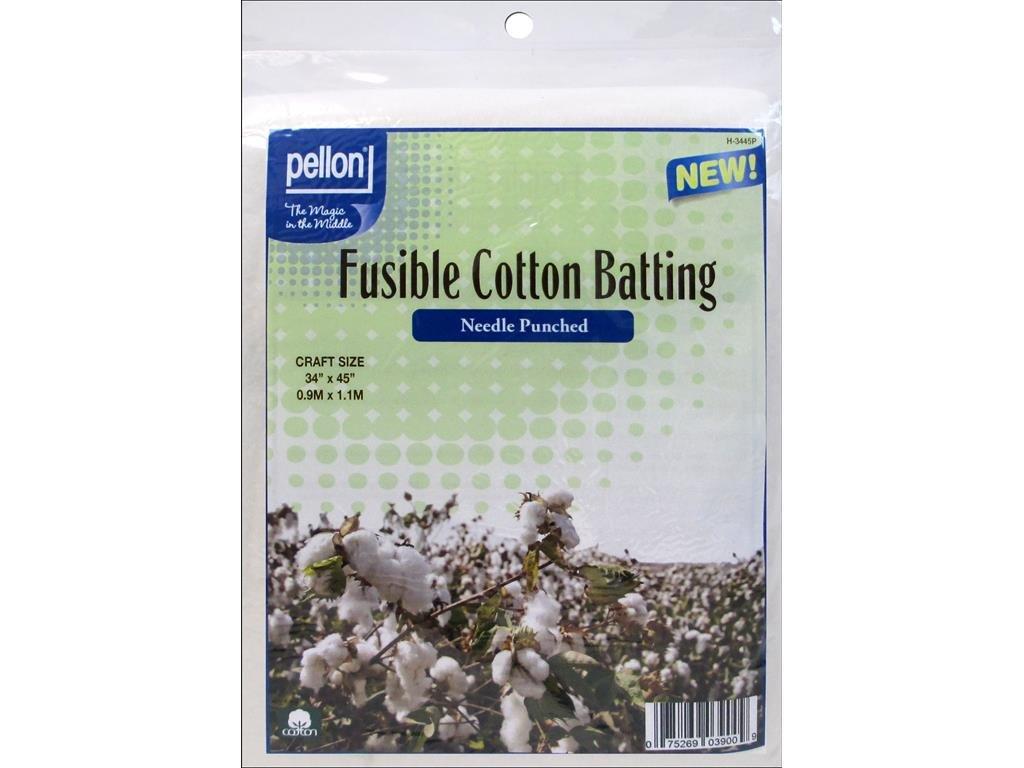 Pellon Batting Needle Punch Fusible Cotton 34x45