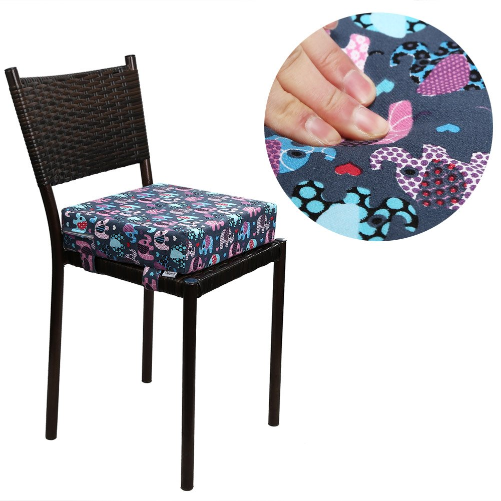Blue Cat Zicac Kids Portable Chair Increasing Cushion Dismountable Adjustable Toddler Highchair Booster Seat Cushion Travel Dining Seat Pad