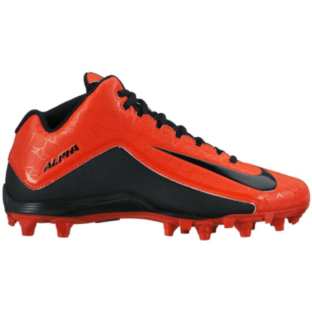 Nike Alpha Strike 2 3/4 TD Orange & Black Football Cleats (10)