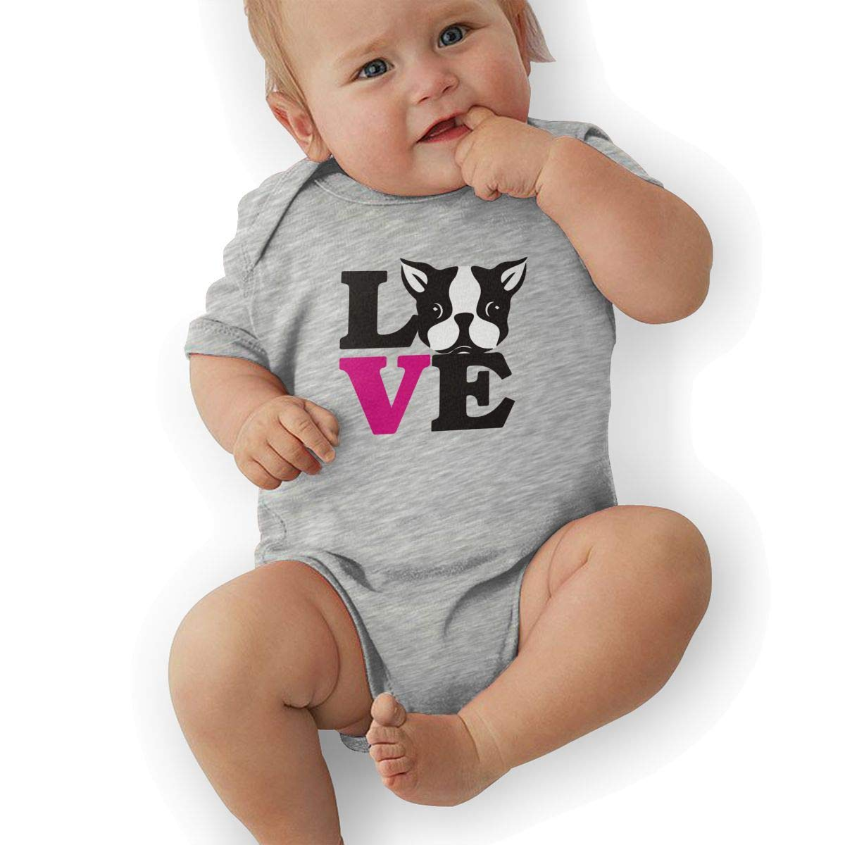 Boston Terriers Custom Made Cotton Mommy Infant Gift for New Mom Funny Cute Unisex Baby Bodysuit