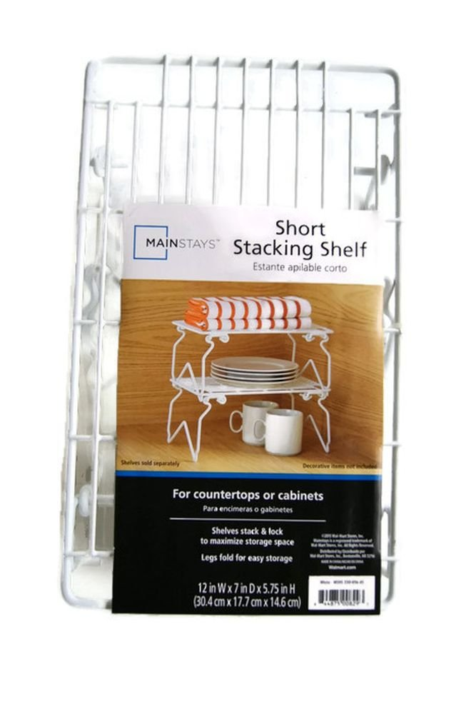 Wire Stacking Shelf - Short - 12'' x 7'' x 5.75''