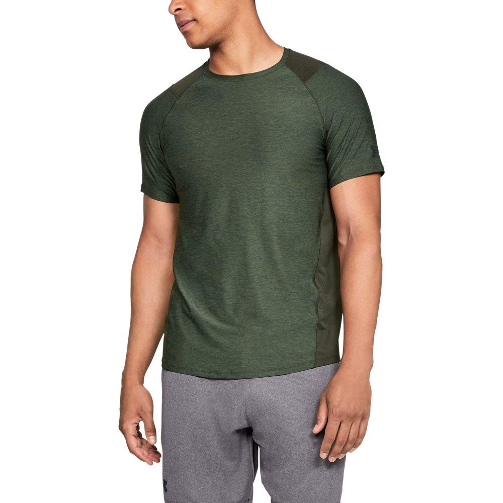 Under Armour Men's MK1 Short Sleeve T-Shirt, Artillery Green (357)/Black, Large by Under Armour