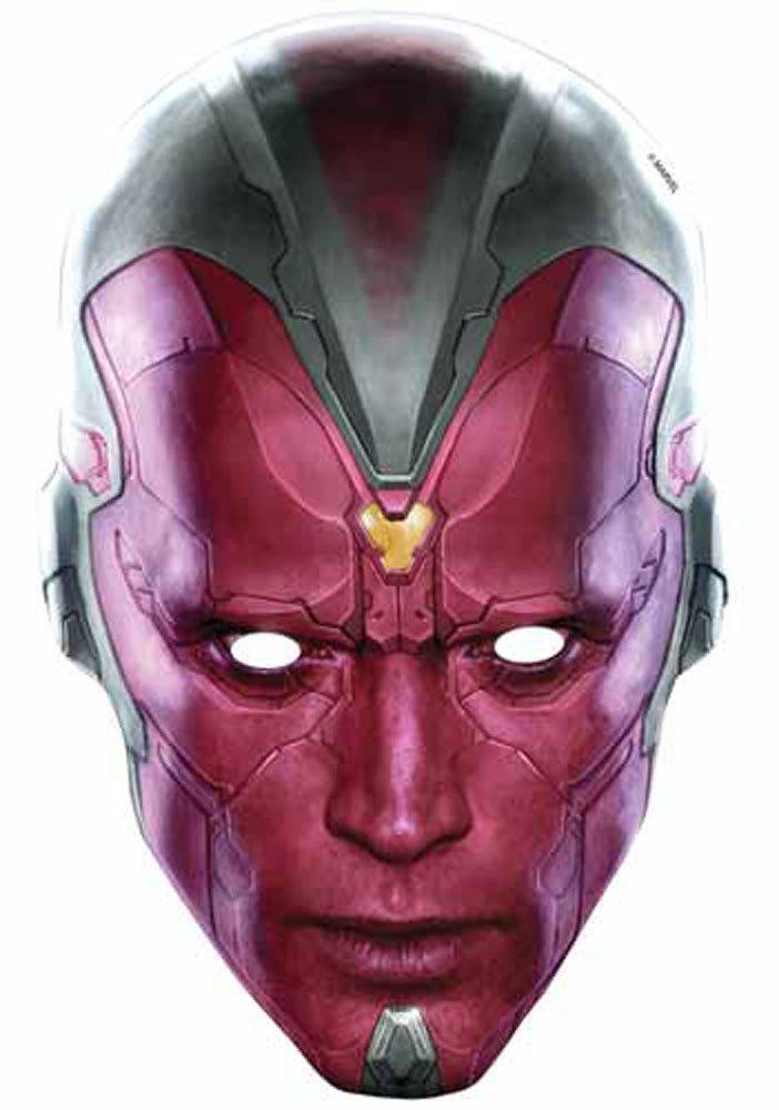empireposter The Avengers - Vision Papp Maske, aus hochwertigem Glanzkarton mit Augenlöchern, Gummiband - Größe ca. 30x20 cm