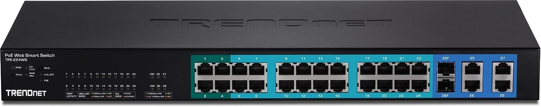 TRENDnet TPE-224WS Switch Web smart 26 ports 24 PoE+2 Gigabit Noir