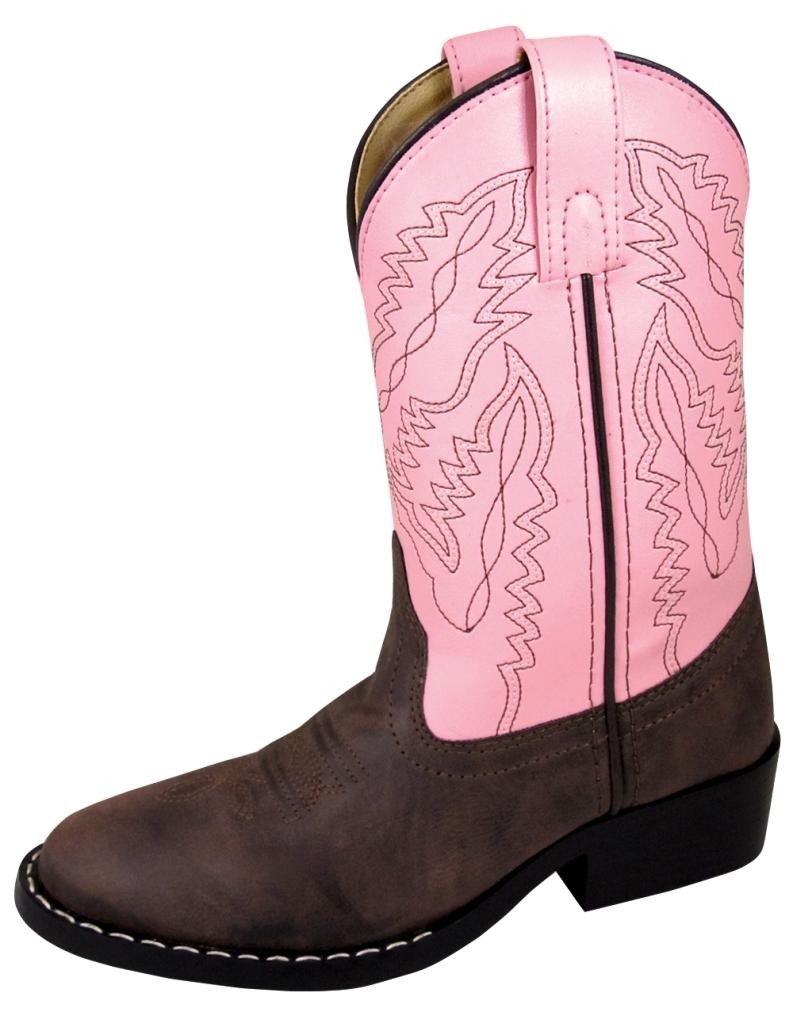 Smoky Mountain Childrens Girls Monterey Boots Brown/Pink, 11M