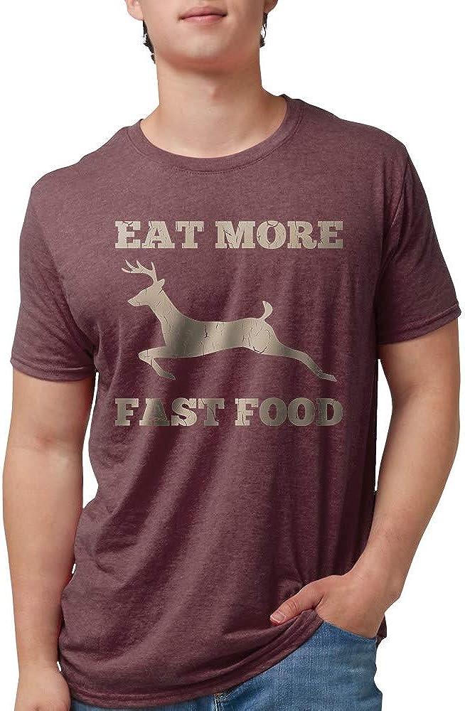 CafePress Eat More Fast Food Hunting Humor Tri-Blend Tee