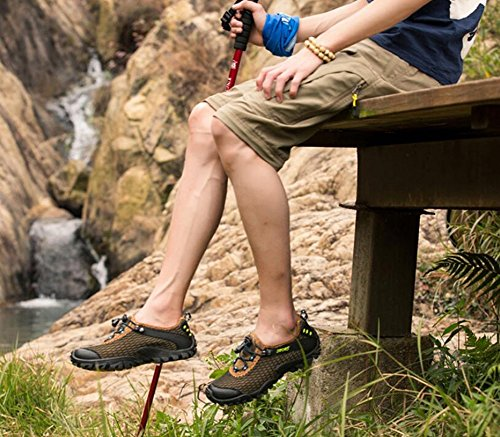 Hiking Summer Men's Outdoor Breathable 41 Shoes Mesh Trekking Shoes Size Non Shoes Exercise Sneakers Slip Color D Hiking Wading F0qdFwr
