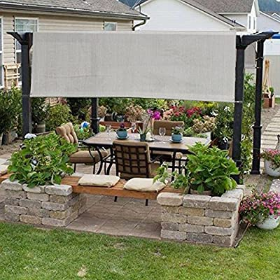 Alion Home 14 x 6.5 Ft Universal Pergola Replacement Canopy Shade Cover with Breathable HDPE Fabric & Rod Pockets (14' L x 80'' W, Smoke) : Garden & Outdoor