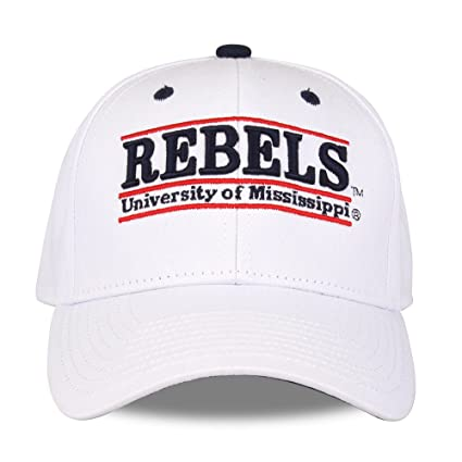 3f0707f4 NCAA Mississippi Old Miss Rebels Unisex NCAA The Game bar Design Hat, White,  Adjustable