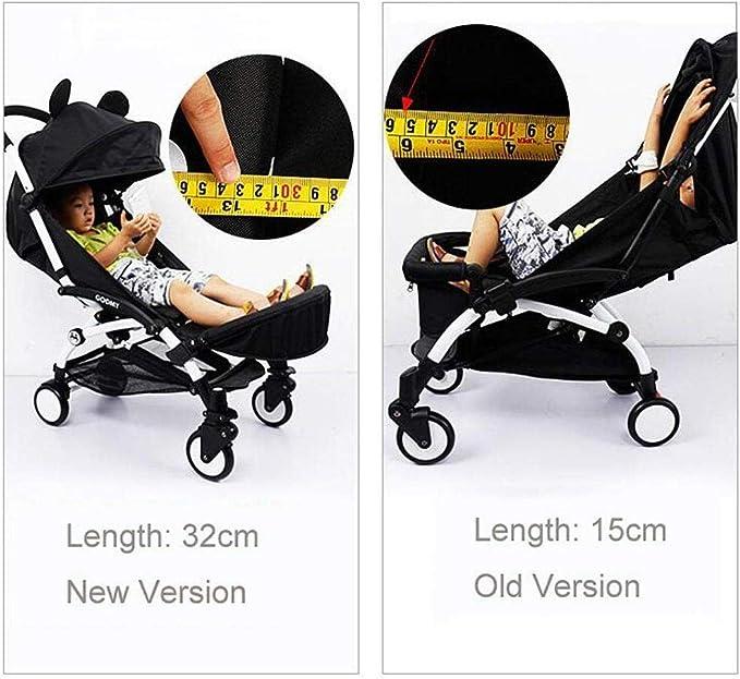 Patinete universal para coche de paseo Cochecito de Bebé Apoyabrazos Soporte de los pies Cochecito con Paraguas Accesorios para el carro de bebé
