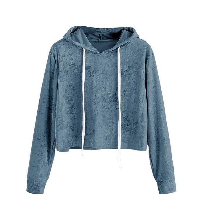 quality design 22f3b f9c23 TWIFER Damen 2019 Neue Gedruckt Langarm Kurze Sweatshirt Hoodies Crop  Pullover