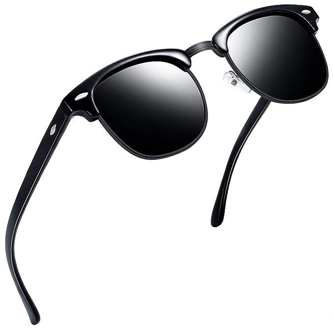 Joopin - anteojos de sol polarizadas semi sin llama para hombres y mujeres 4e0a359d384b