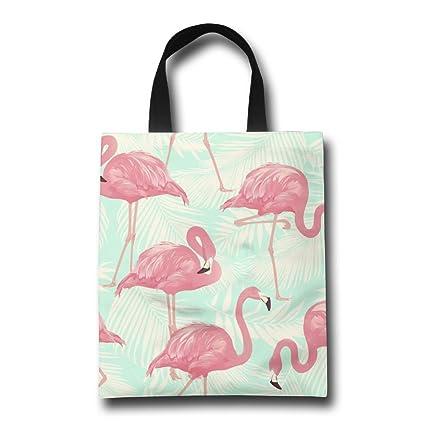 HABNMK Bolsas de asa de la compra Flamingos personalizadas