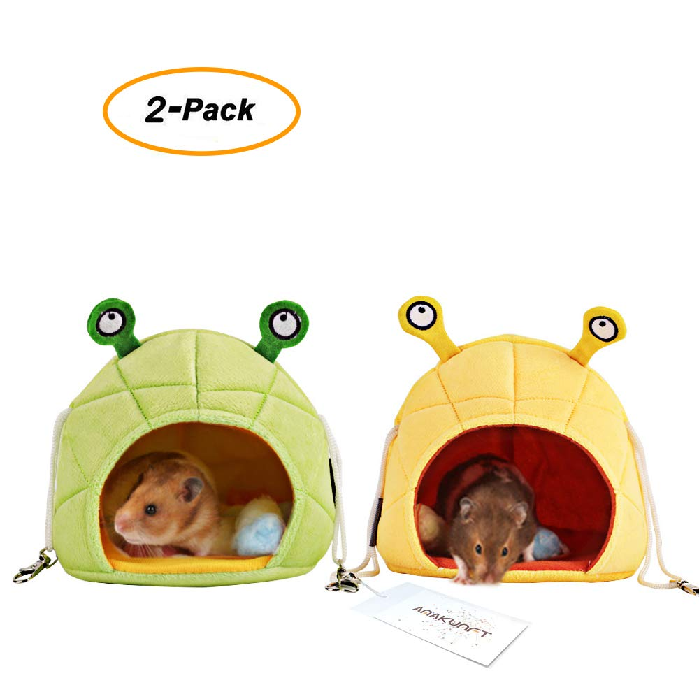 2 Pack of Hamster Bedding, Chinchilla Cage Accessories Hammock, Hamster House Toys for Small Animal Sugar Glider Squirrel Chinchilla Hamster Rat Playing Sleeping HL