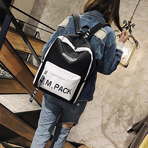 Bag Backpack Rucksack Unisex Shoulder Bookbag School White tqPUp