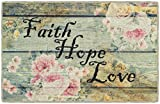 Brumlow Mills EW10160-30x46 Faith Hope Love Vintage Spring Kitchen and Entryway Rug, 2'6 x 3'10