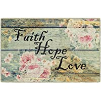 Brumlow Mills EW10160-30x46 Faith Hope Love Vintage Spring Kitchen and Entryway Rug, 26 x 310