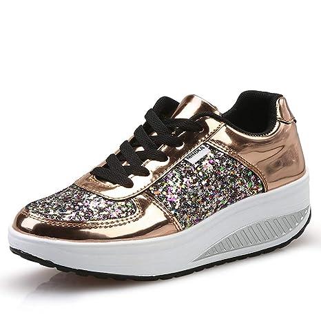 10bd12512793b Amazon.com: ASO-SLING Women's Platform Wedges Sneakers Comfortable ...