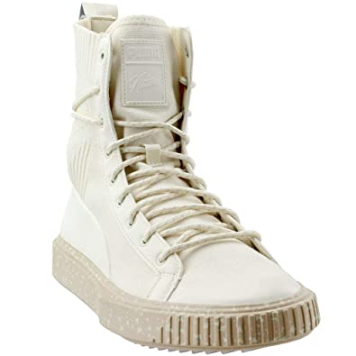 PUMA Breaker Boot Naturel Mens White Textile High Top Lace Up Sneakers  Shoes 7 a0453cd58