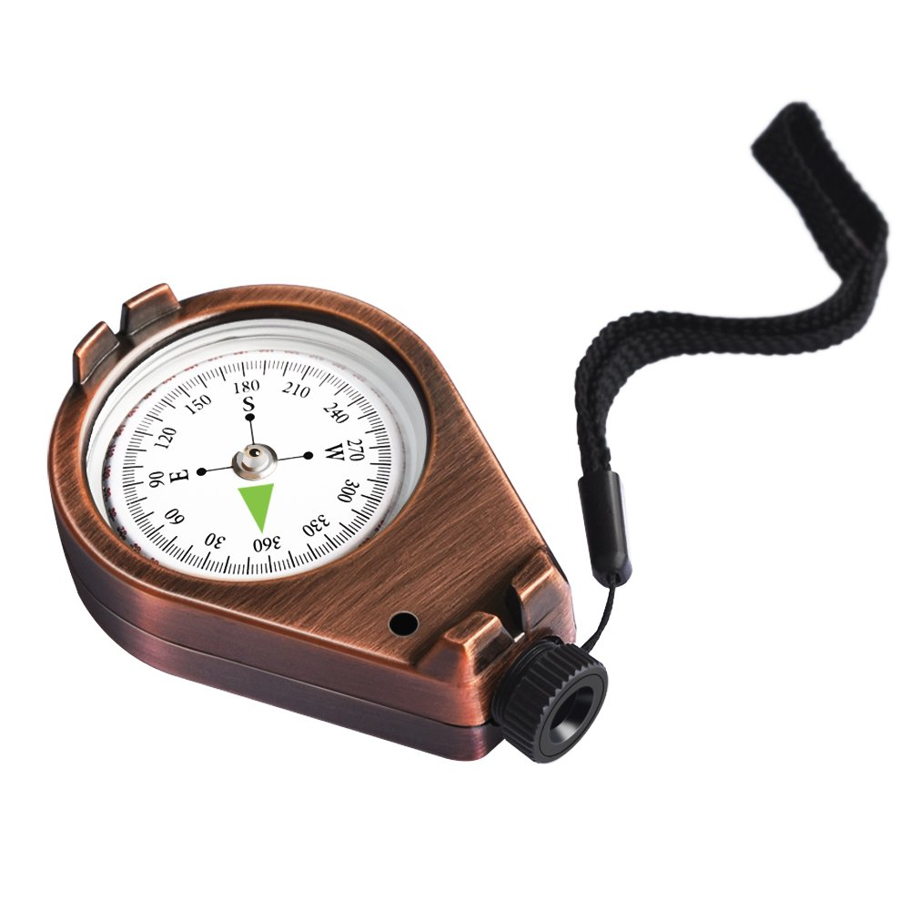 Eaggle Compass Classic Accurate Waterproof Shakeproof for Hiking Camping Motoring Boating Backpacking Mountaineering Exploring Hunting Orienteering Sighting Gift Collection Vintage (Bronze)