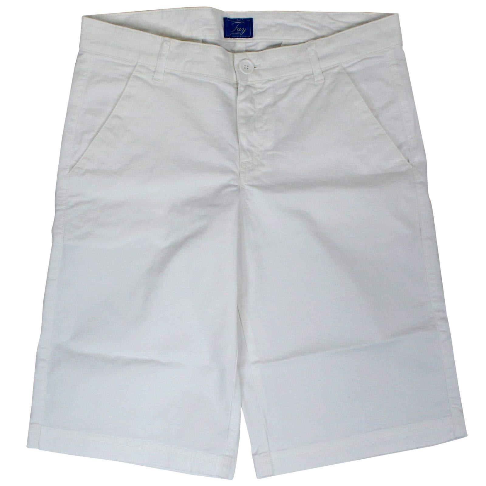 fay Boys Nui8338736tqpsb001 White Cotton Pants