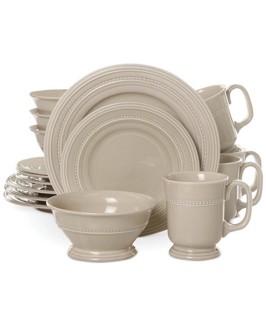 sc 1 st  Amazon.com & Amazon.com | Gibson Adele Beige 16-Piece Dinnerware Set: Dinnerware Sets