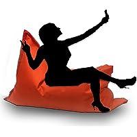 Sitzsack mit Füllung - Farbe & Größe Wählbar- In & Outdoor Sitzsäcke Sessel Kissen Sofa Hocker Sitzkissen Bodenkissen