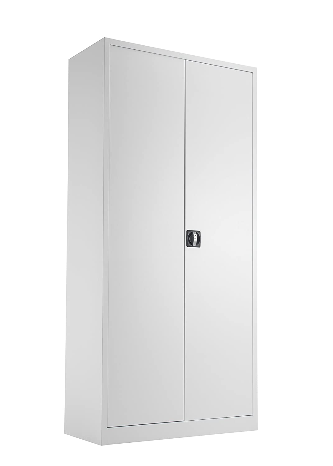 Office Hippo Steel Double Door Cupboard with 2 Shelves, Fully Lockable, 100 cm High, Metal, White TCSDDC1000WH