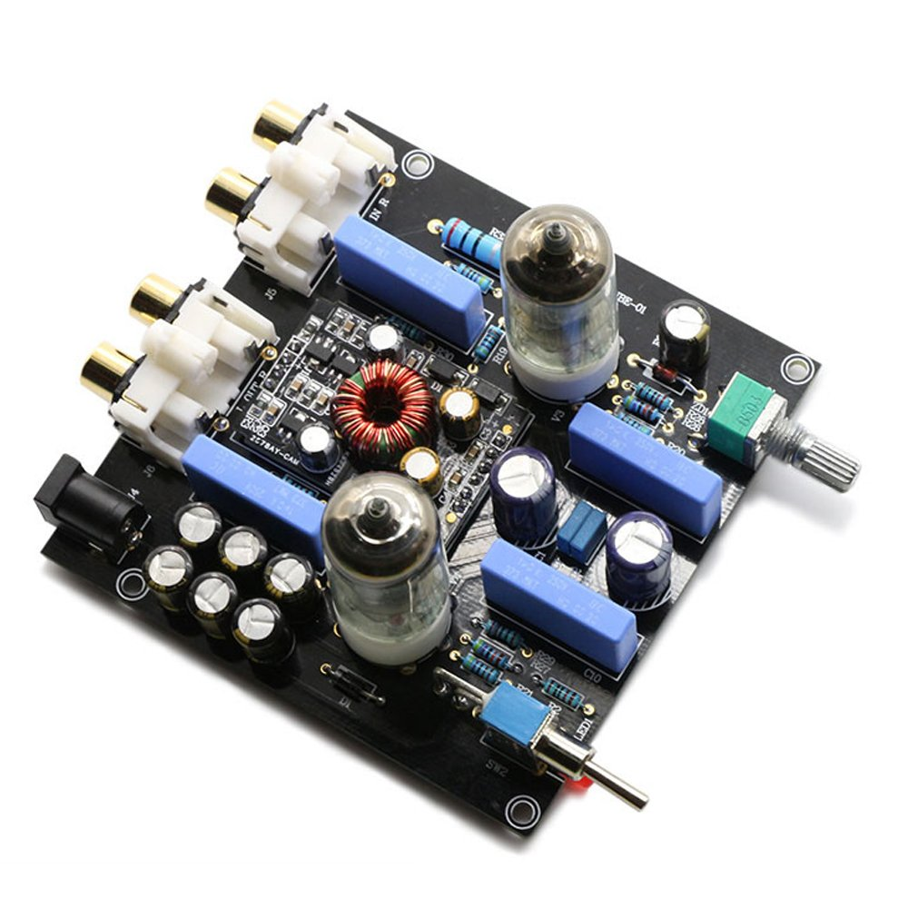 FX Audio TUBE-01 6J1 Tube Buffer HIFI Preamplifier (Black) by FX Audio (Image #4)